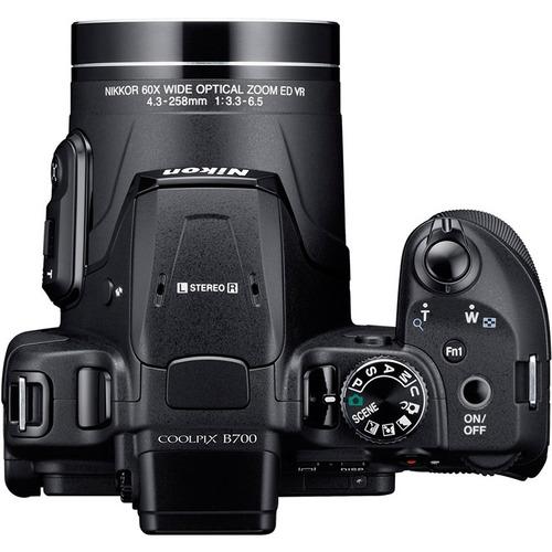 cámara nikon coolpix b700 20,2mpx+ estuche nikon