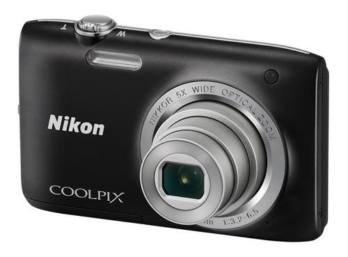 cámara nikon coolpix s2800 20mp 5x + 4gb + estuche + trípode