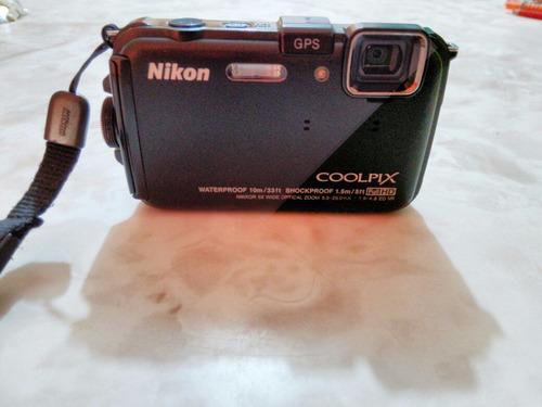 camara nikon coolpix waterproof 10m/shockproof 1.5m full hd