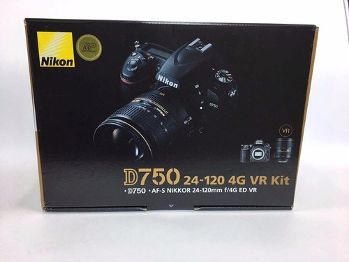 cámara nikon d-750 con 24-120 f/4g ed vr