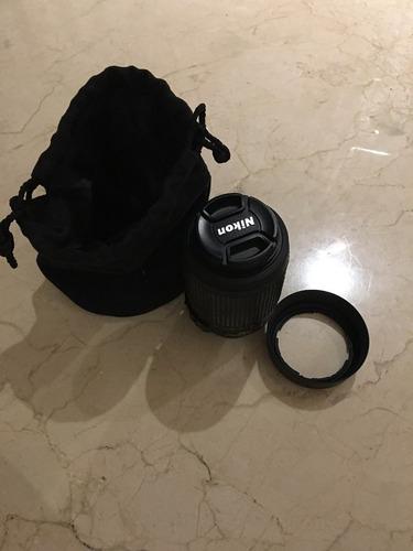 camara nikon d3100 con lente 55-200