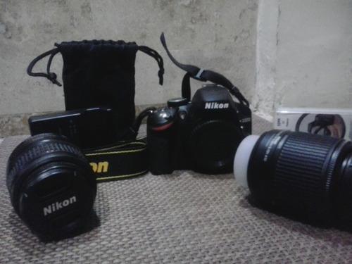 cámara nikon d3200 con accesorios