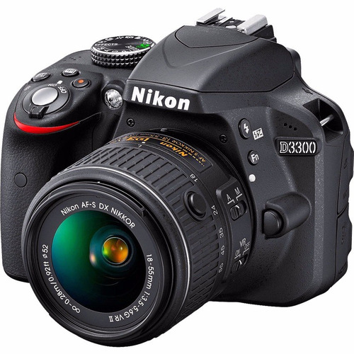 cámara nikon d3300 +18-55mm vr