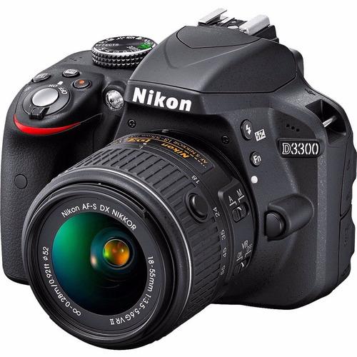 cámara nikon d3300 +18-55mm vr + estuche.