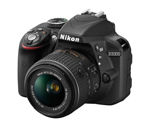 camara nikon d3300 24 megapixeles, lente  dx vr 18-55mm