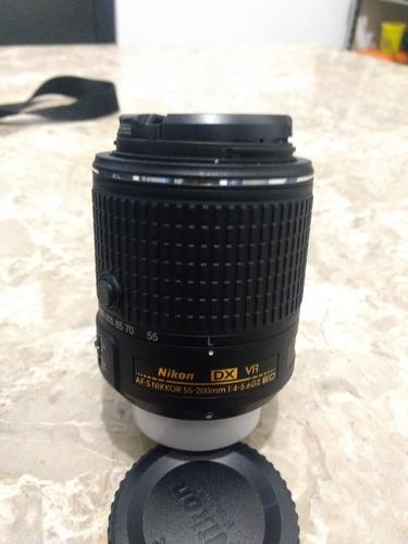 camara nikon d3300 24 mp+ 2 lentes 18-55mm vr + 55 200 mm vr