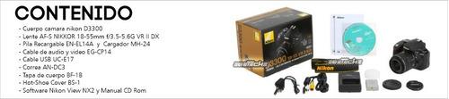 camara nikon d3300 24.2 mp con 18-55mm f/3.5-5.6 af-p vr