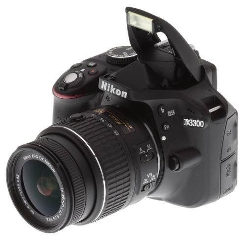 cámara nikon d3300 + lente 18-55mm 24.2 megapíxeles full hd