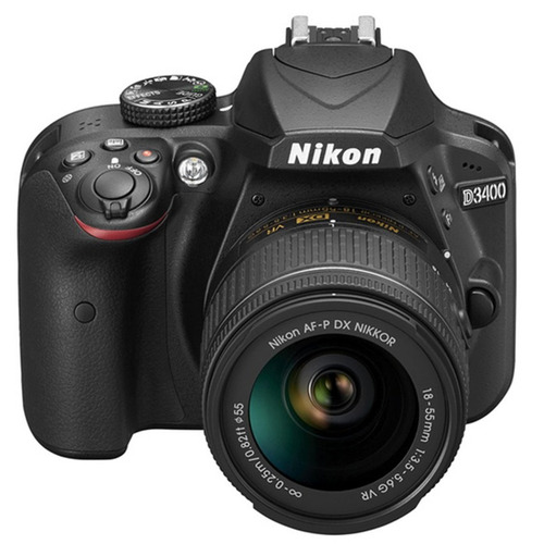 cámara nikon d3400 + 16gb  24mpx full hd bluetooth