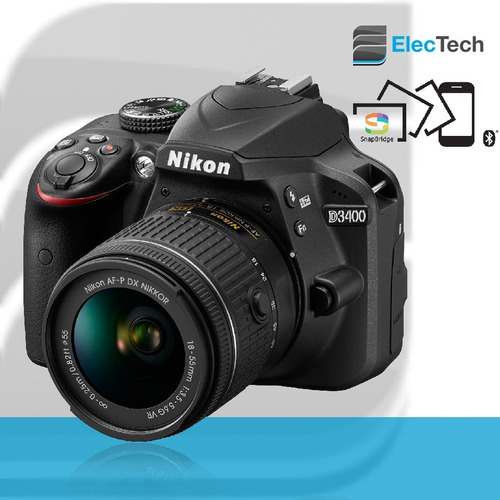 camara nikon d3400 18-55mm af-p tripode 1,35mts+ 16gb+ bolso
