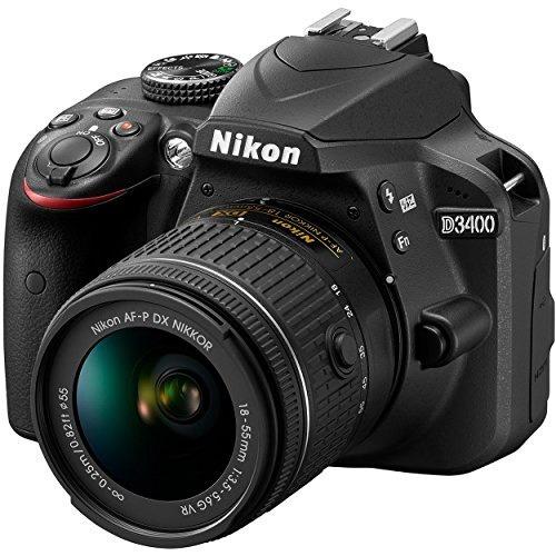 cámara nikon d3400 24.2 mp dslr af-p dx 18-55mm vr nikkor