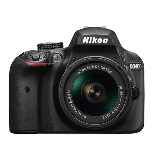 camara nikon d3400  24.2mp kit 18-55 + 70-300 full hd