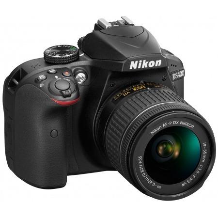 camara nikon d3400 24mp, lente 18-55mm, reflex profesional