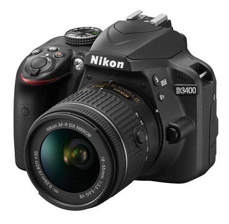 camara nikon d3400 con lente 18-55mm vr dslr reflex nueva