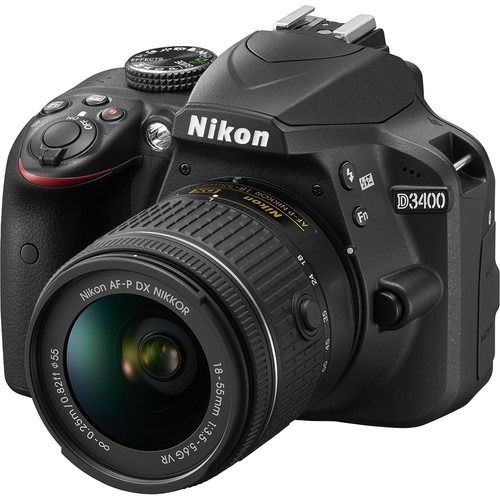camara nikon d3400 kit 18-55 + bolso para reflex + sd 16gb