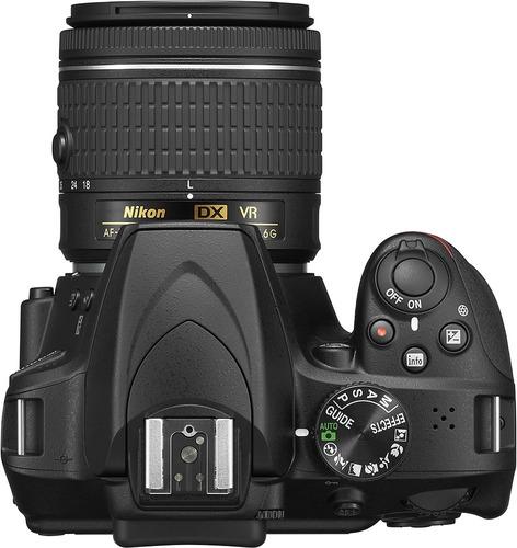 camara nikon d3400 negro lente18-55 vr afp nueva sellada