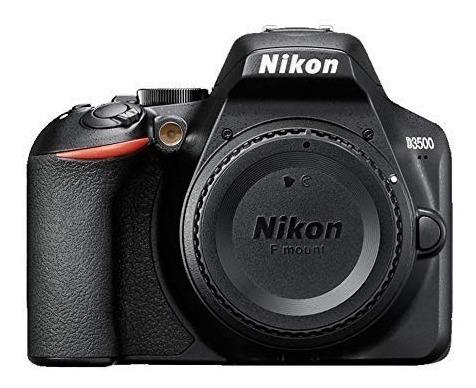 cámara nikon d3500 body + 35mm yongnuo + sd 32gb + mochila