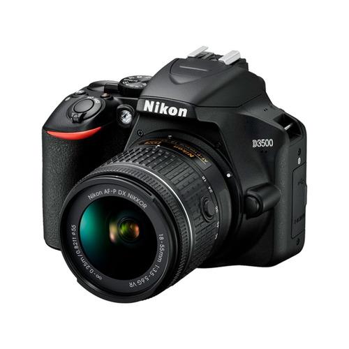 cámara nikon d3500 + sd 16 gb + maletín