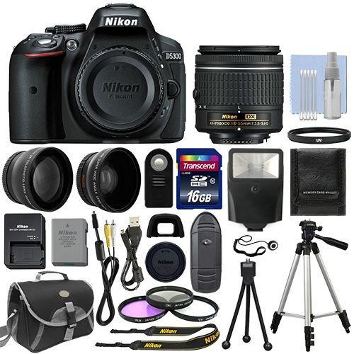 cámara nikon d5300 + 18-55mm + 16gb + acceso envío inmediato