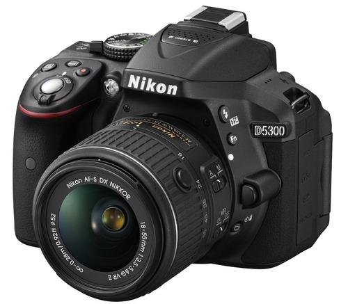 camara nikon d5300 24.2 mp kit 18-55mm f/3.5-5.6g afp vr gps