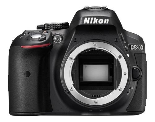 cámara nikon d5300 lente 18-55mm vr 24,2mpx wifi gps