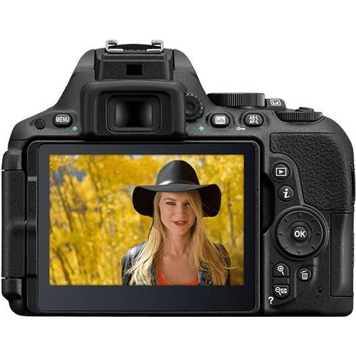 camara nikon d5500 24mp lente 18-55 wifi reflex profesional