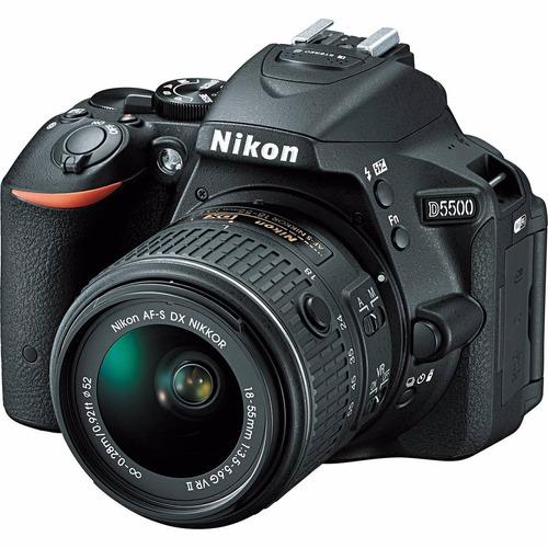 camara nikon d5500 kit 18-55mm af-p +trípode+ 16gb+ bolso