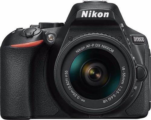 camara nikon d5600 con af-p dx 18-55mm con nikon 70 300 afp