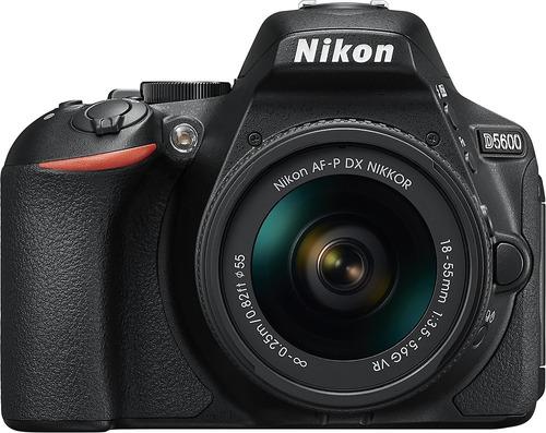 camara nikon d5600 dslr con af-p dx vr 18-55mm f/3.5-5.6 new