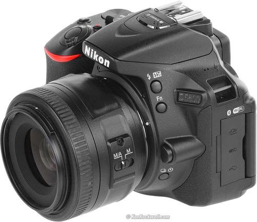 cámara nikon d5600 + lente18-55 full hd 24 mega pixeles