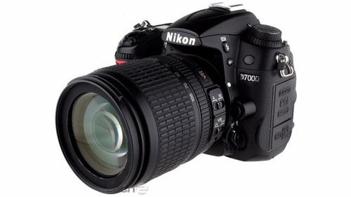 camara nikon d7000 con lente 55-105 mm