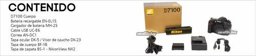 cámara nikon d7100 cuerpo 24.1 mp dx cmos digital slr reflex