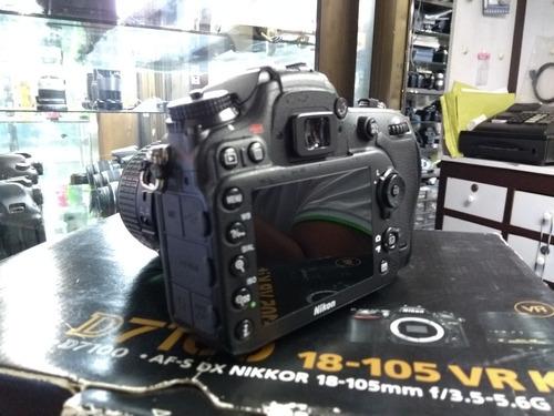 cámara nikon d7100 lente dx 18-55, memoria 16 gb, estuche, c