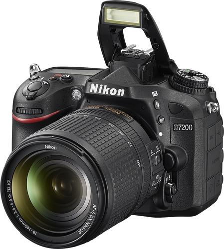 cámara nikon d7200 24.1 mp dx con lente 18 140mm vr wifi nfc