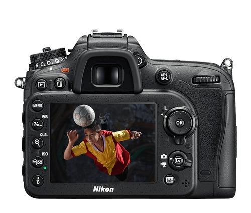 cámara nikon d7200 c/lente 18-140mm. af-s vr g dx