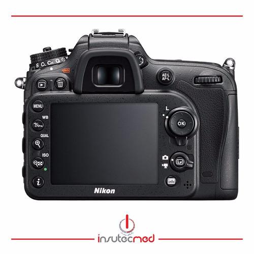 cámara nikon d7200 lente 18-140mmvr 24.2mpx,+sd 32gb+estuche