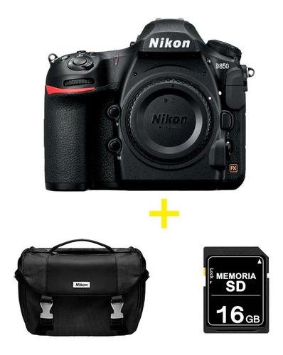 cámara nikon d850 solo cuerpo + sd 16 gb + maletín