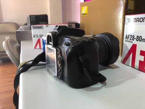 cámara nikon d90 con kit de lentes y accesorios
