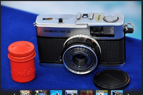 cámara olympus trip 35: clásica e internacionalmente famosa
