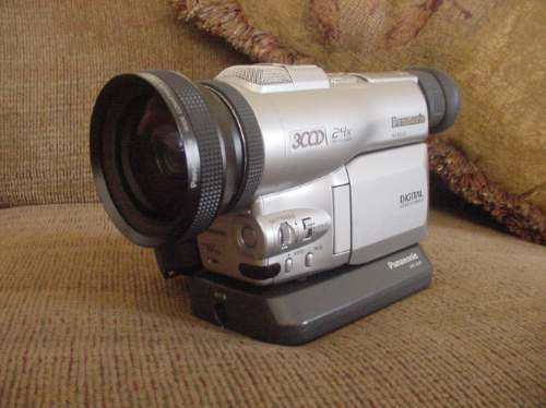 camara panasonic 3ccd nv-dx100eg + lente wide