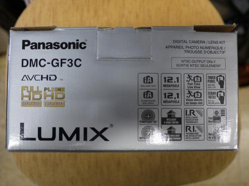 camara panasonic lumix  g  dmc-gf3c full hd 3d-japan-reflex