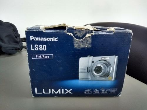 cámara panasonic lumix ls 80 8.1mega. caja, manuales, cd, ba
