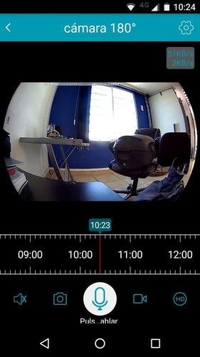 cámara panorámica 180° wifi hd audio dos vías