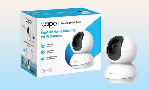 cámara pan/tilt tp-link tapo c200 wi-fi home security 1080p