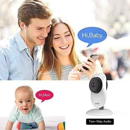 Android App Home Camera Indoor,UNIOJO HD WiFi Camera,Compatible with Alexa for Home//Office// Baby//Pet Monitor with iOS Cloud Service Available
