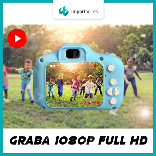 cámara para niños niñas facil uso filma 1080p fotos