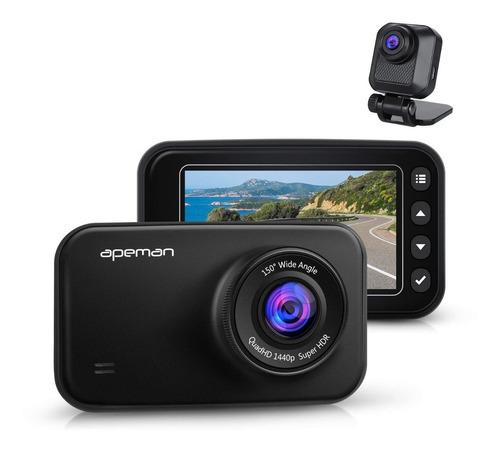 cámara para vehículo doble lentes full hd vision nocturna