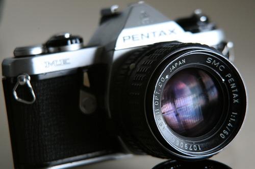 camara pentax me lente 50mm 1.4f