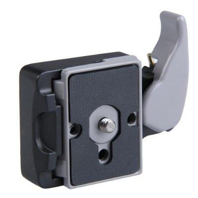 cámara placa 323 manfrotto lanzamiento rápido con adaptador