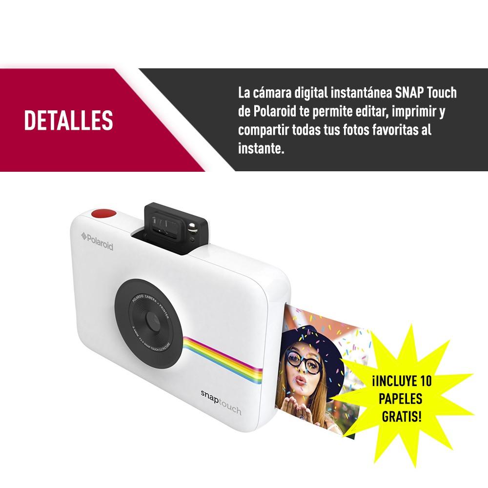 f7371da685 camara polaroid snap touch blanca + 10 adhesivos proglobal. Cargando zoom.